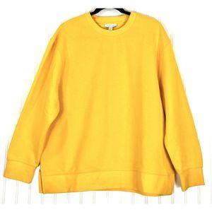 Topshop yellow split hem sweatshirt